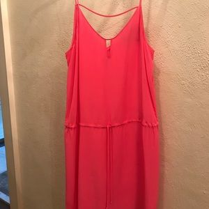 rory becca hot pink silk dress